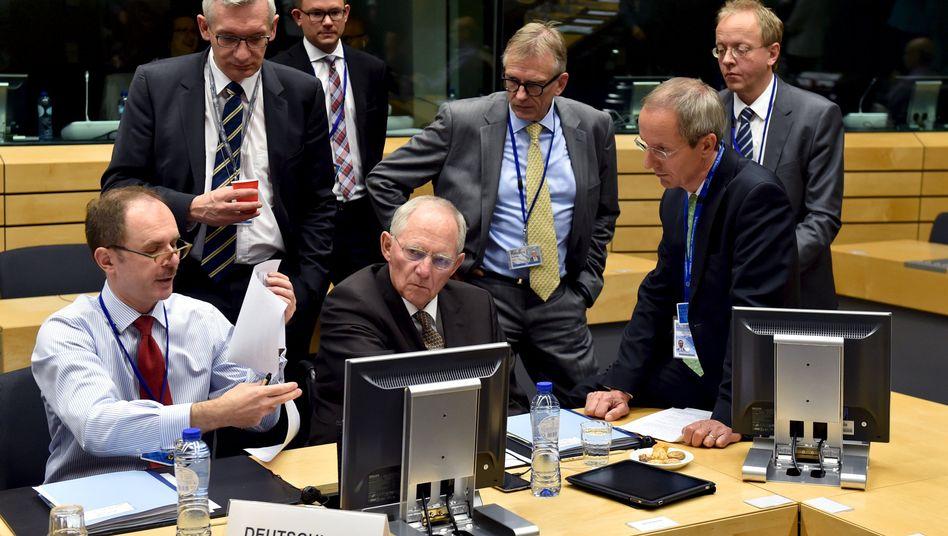 Wolfgang Schäuble und weitere Euro-Finanzminister: Massive Forderungen an Griechenland