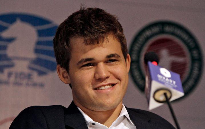 Zuversichtlich: Schachweltmeister Carlsen verteidigte erfolgreich gegen Sergej Karjakin seinen Weltmeistertitel