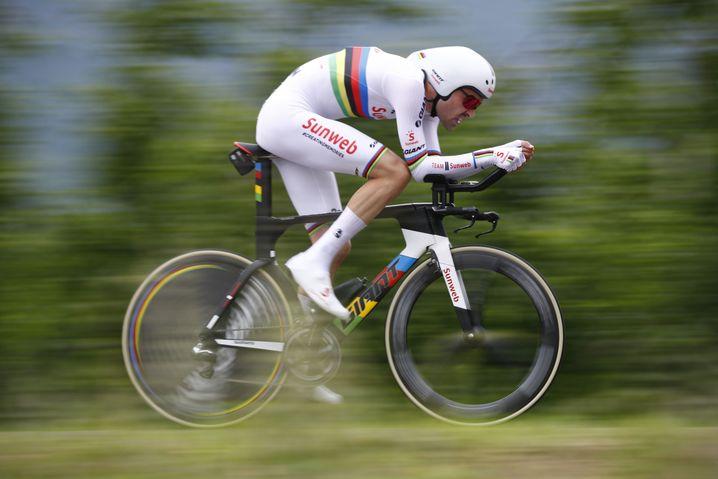 Tom Dumoulin vom deutschen Team Sunweb im Zeitfahren beim Giro d'Italia