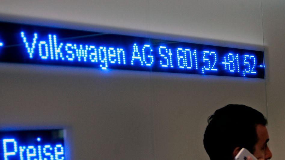 Bleiben begehrt: Aktien des Autobauers Volkswagen