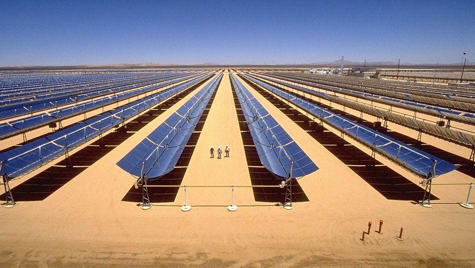 Solarfeld mit Parabolrinnenkraftwerks in der Mojave-Wüste: Siemens steigt aus dem Solarmarkt aus, die Sparte soll verkauft werden