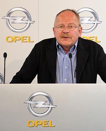 Widerstand gegen Werksschließungen: Opel-Betriebsratschef Klaus Franz