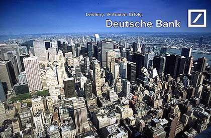 Kandidat 9: Deutsche Bank. Obwohl sich auch fünf deutsche Städte um die Olympischen Spiele bemühen, unterstützt die Deutsche Bank die Bewerbung von New York.