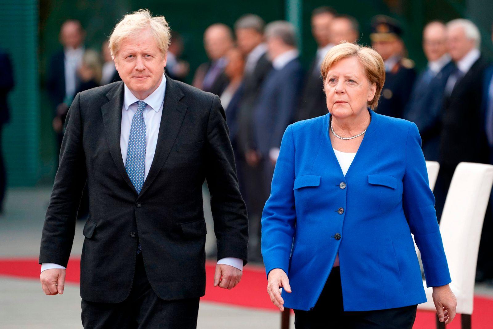 Boris Johnson/ Angela Merkel