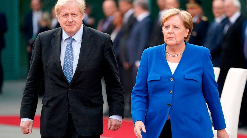 Angela Merkel, Boris Johnson