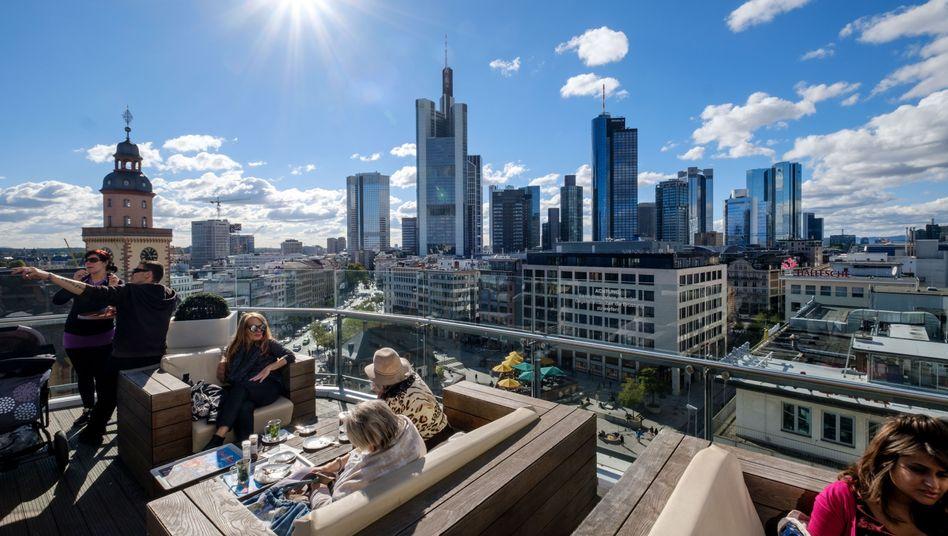 Strahlende Aussichten in Frankfurt: Mit dem Brexit könnten viele Banker von London an die Main-Metropole ziehen