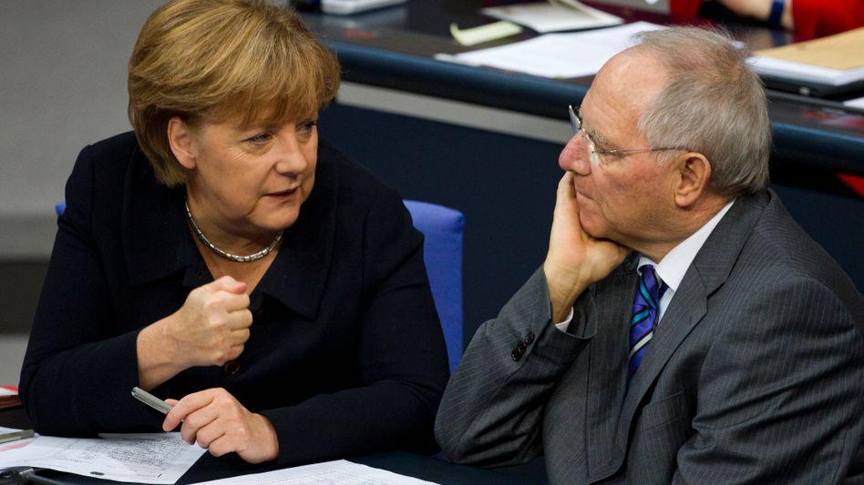 """Euro-Fighter Schäuble, Merkel: """"Im US-Kongress keine Chance für bilaterale Kredite"""""""