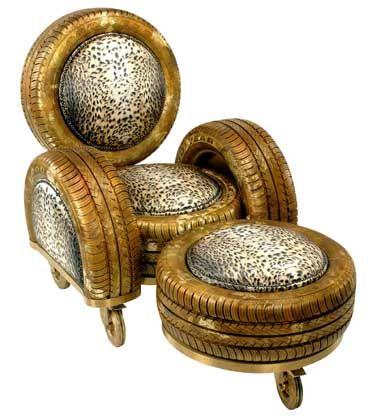 Nimm Platz: Ein Sessel aus Goodyear-Reifen