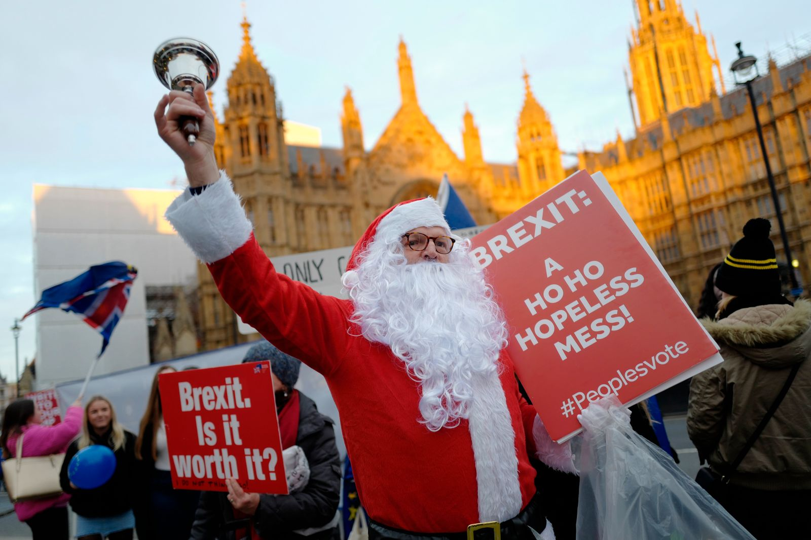 Brexit demonstrators