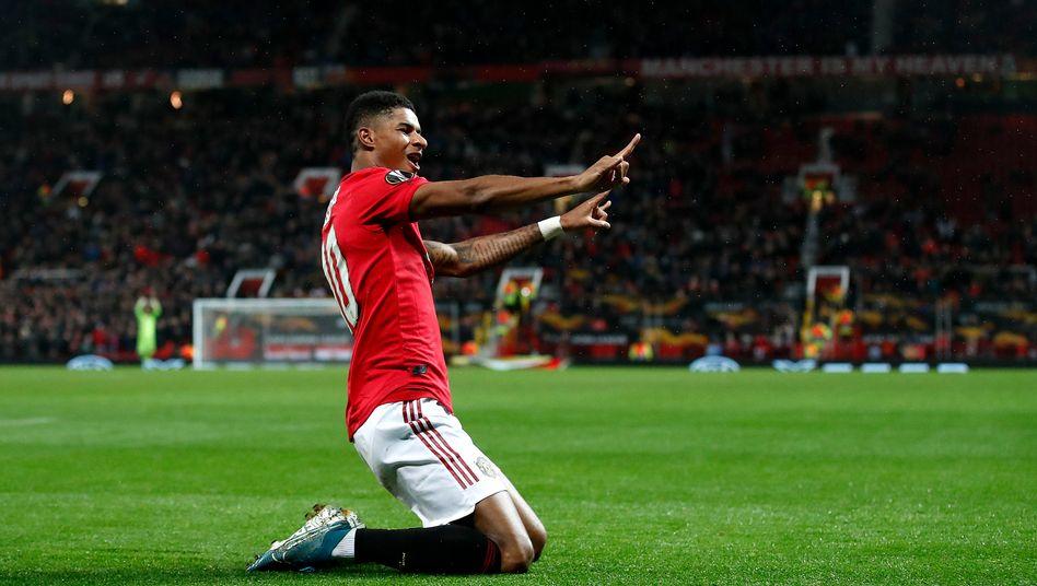 Freude bei Manchester United: Die Aktie steigt am Mittwoch um 14 Prozent (im Bild: Manu-Profi Marcus Rashford).