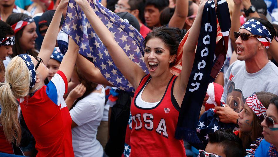 USA! USA! Vor allem jüngere Menschen tragen die Fußball-Euphorie in den Vereinigten Staaten.