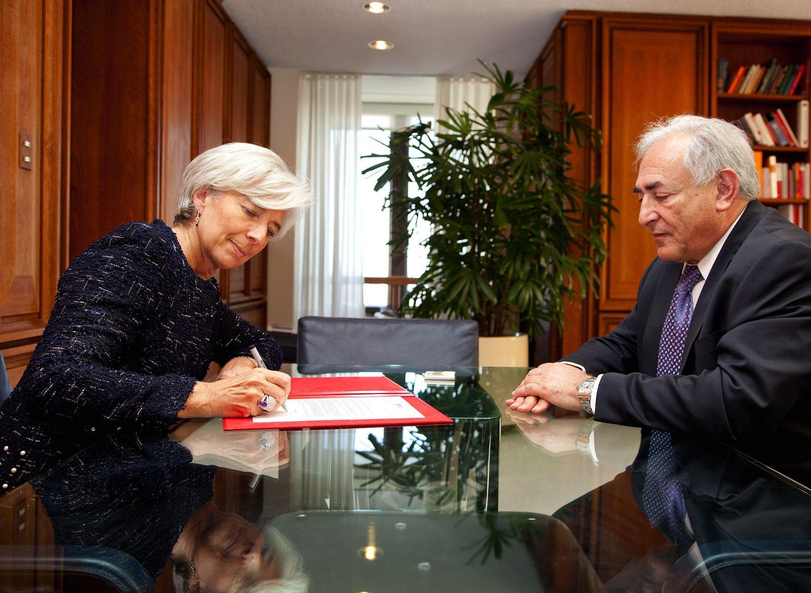 Finanzprofis Lagarde, Strauss-Kahn