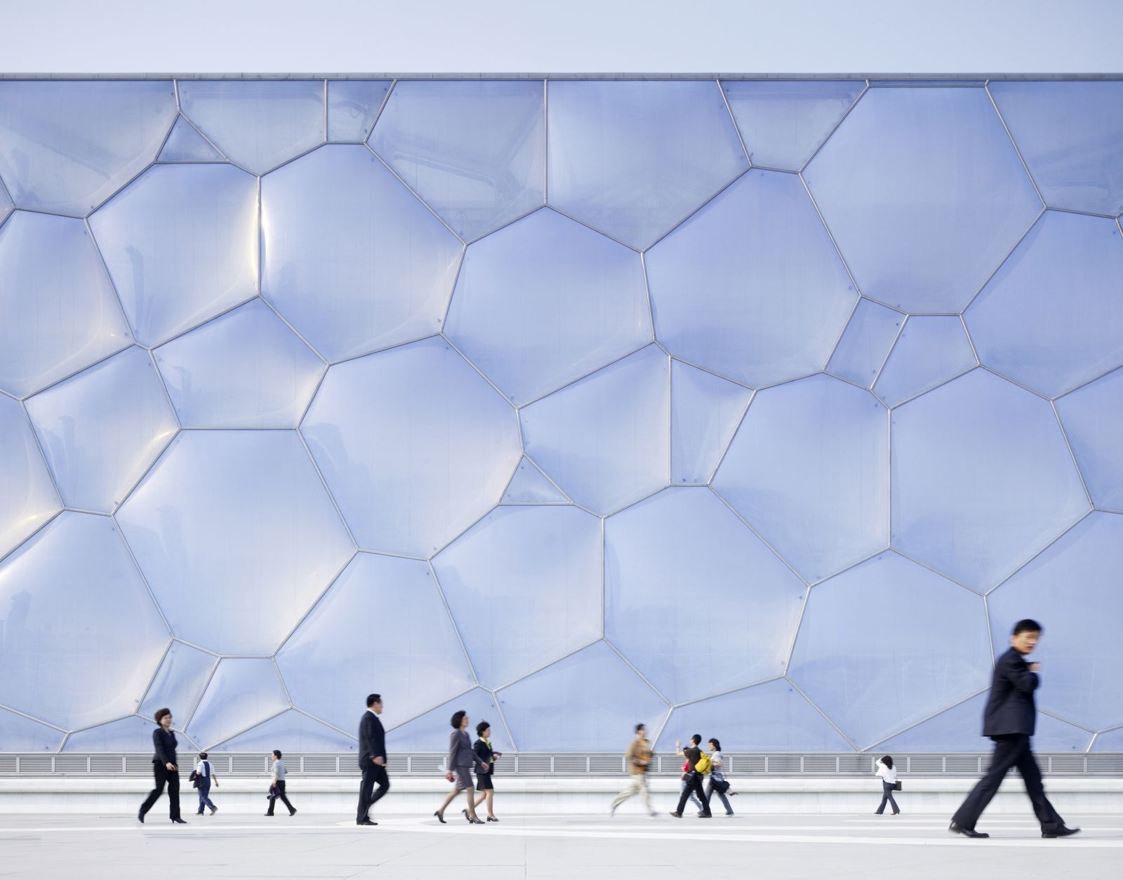 National Aquatics Center, The Water Cube, built for the 2008 Olympics, Beijing, China, Asia