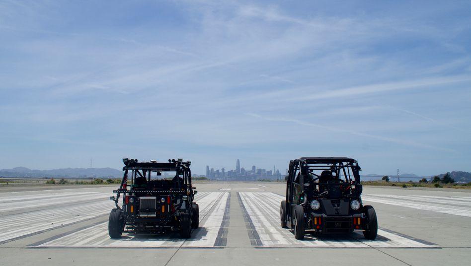 Testautos von Zoox für autonomes Fahren (Archiv): Die künftigen Fahrzeuge sollen ohne Steuerrad und Fahrer auskommen