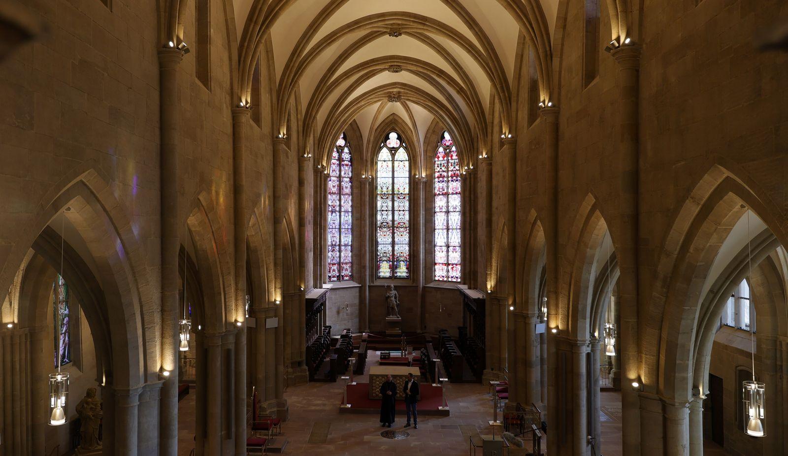 Windows by Gerhard Richter presented in Benedictine monastery in Tholey, Germany - 17 Sep 2020