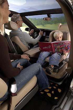 Variabler Innenraum: Die Passagiere können sich gegenüber sitzen
