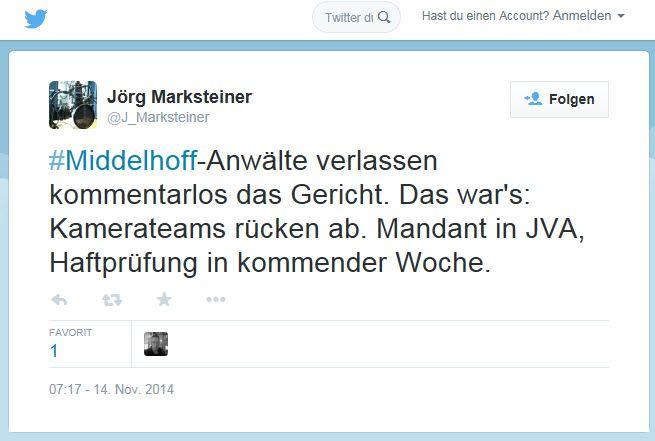 Jörg Marksteiner / Twitter / Tweet / Miiddelhoff