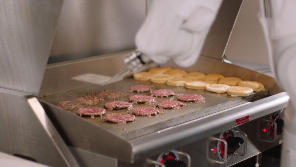 Burger-Roboter bei der Arbeit