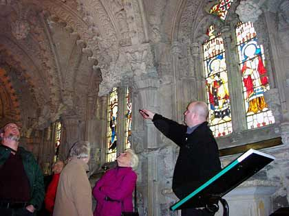 Wallfahrtsort für Sucher des Heiligen Grals: Die Rosslyn-Kapelle liegt nicht weit von der schottischen Hauptstadt Edinburgh entfernt