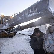 Riesiges Gasfeld: Bau einer Pipeline in Juschno Russkoje