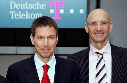 Serviceoffensive: Telekom-Chef Obermann und T-Com-Vorstand Höttges wollen die Kundenbetreuung verbessern