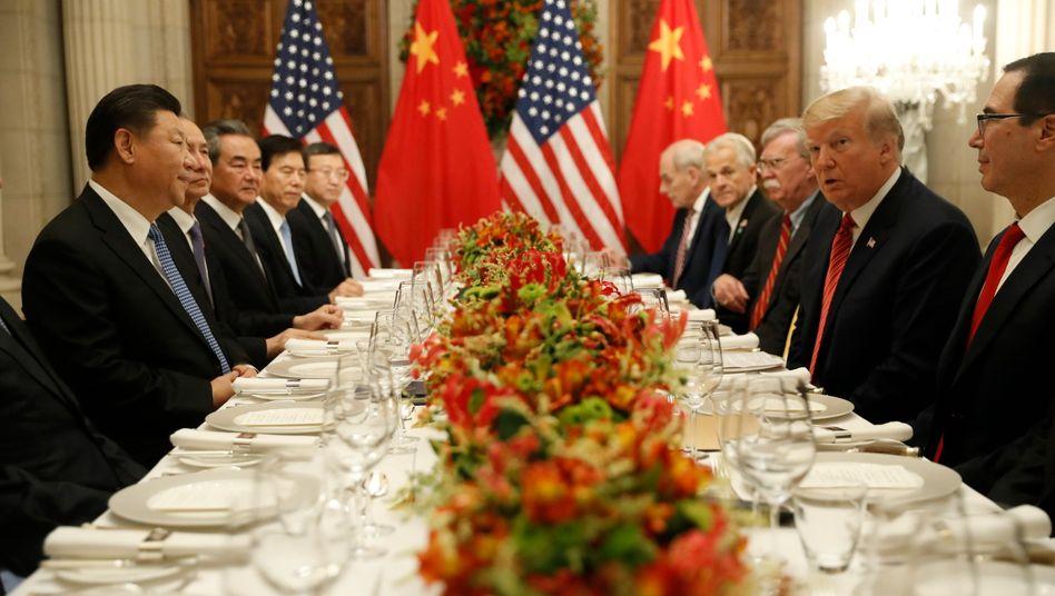 US-chinesischer Gipfel in Buenos Aires: Im Handelskrieg gibt es offenbar Entspannung.