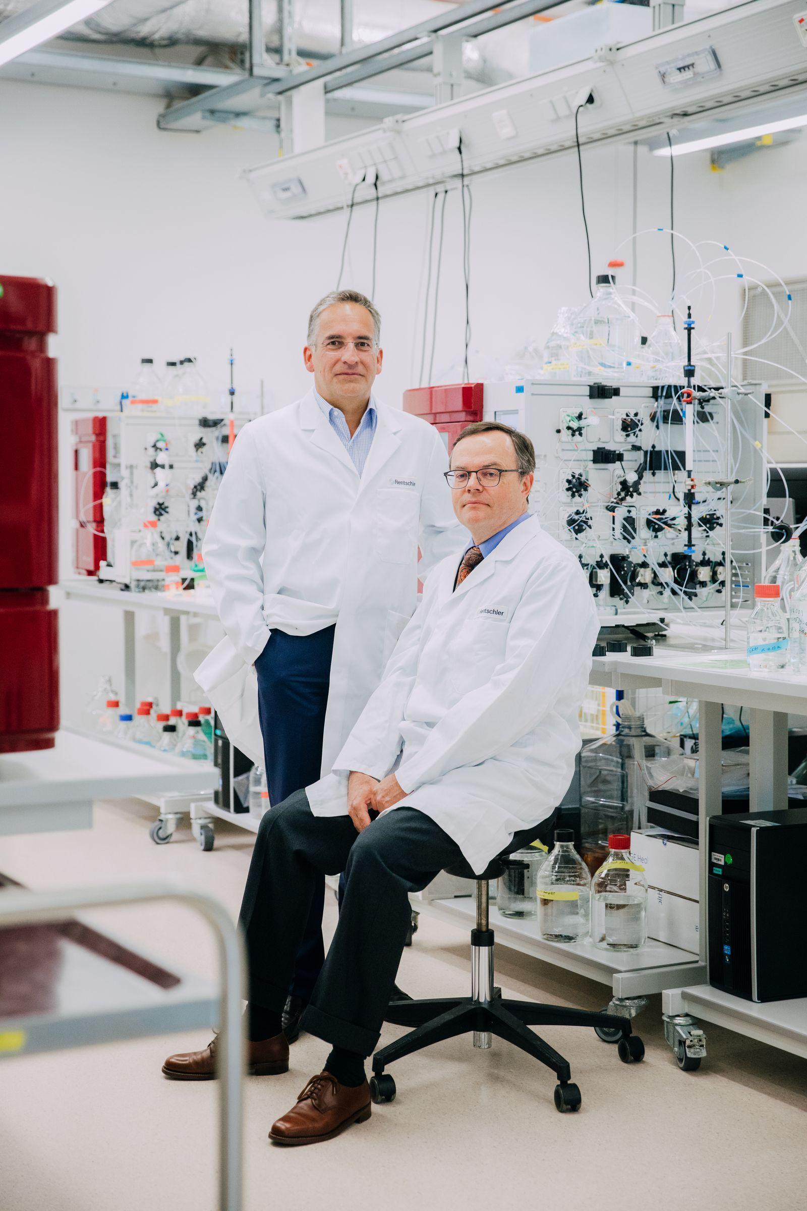 EINMALIGE VERWENDUNG Rentschler Biotechnologie GmbH, Nikolaus Rentschler (rechts) und