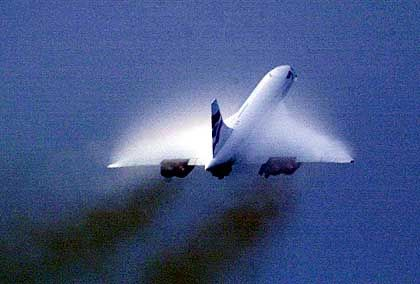Teurer Take-Off: Eine Concorde der British Airways