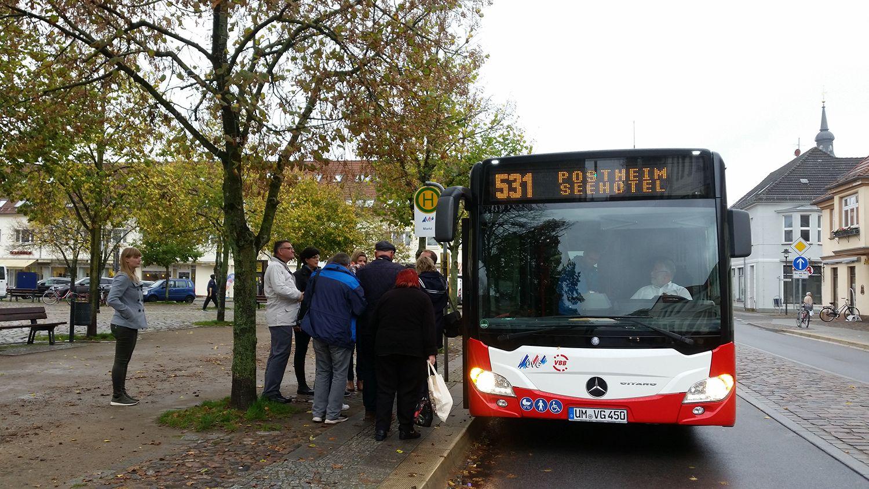 Templin / kostenloser Nahverkehr Uckermärkischen Verkehrsgesellschaft