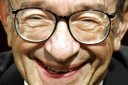 """""""Zinsniveau ist angemessen: Alan Greenspan hat der Börse am Mittwoch die erhoffte Streicheleinheit verpasst"""