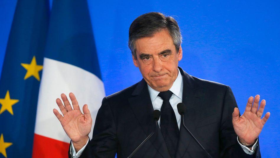 Unter Druck: Französische früherer Regierungschef Fillon soll für zwei Jahre in Haft.