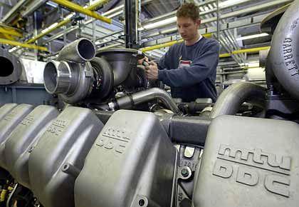 Kerngeschäft: Motorenbau bei MTU