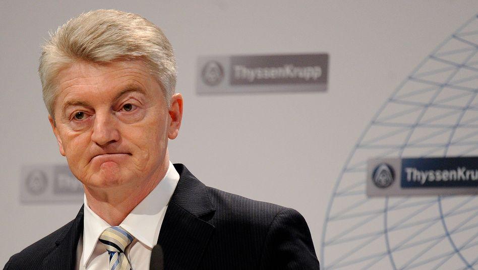 Wie lang ist der Weg in die Gewinnzone? ThyssenKrupp-Chef Hiesinger steht vor einem Berg von Problemen