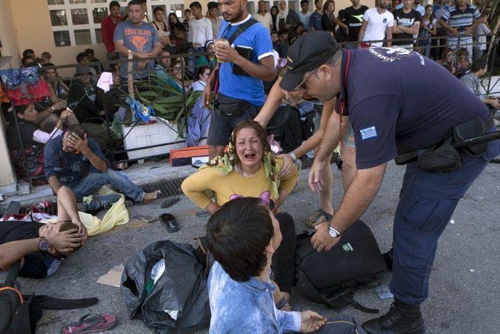 Flüchtlinge auf Lesbos: Die griechische Regierung hat die EU gebeten, den gemeinsamen Katastrophenschutz zu aktivieren