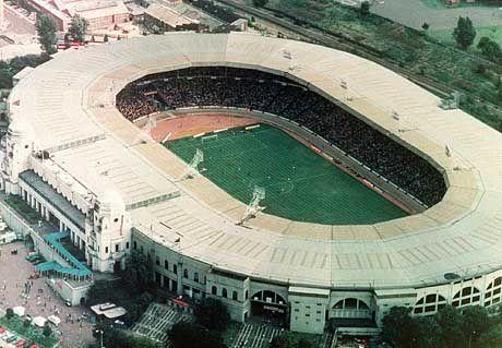 Das alte Wembley-Stadion in einer Aufnahme von 1984