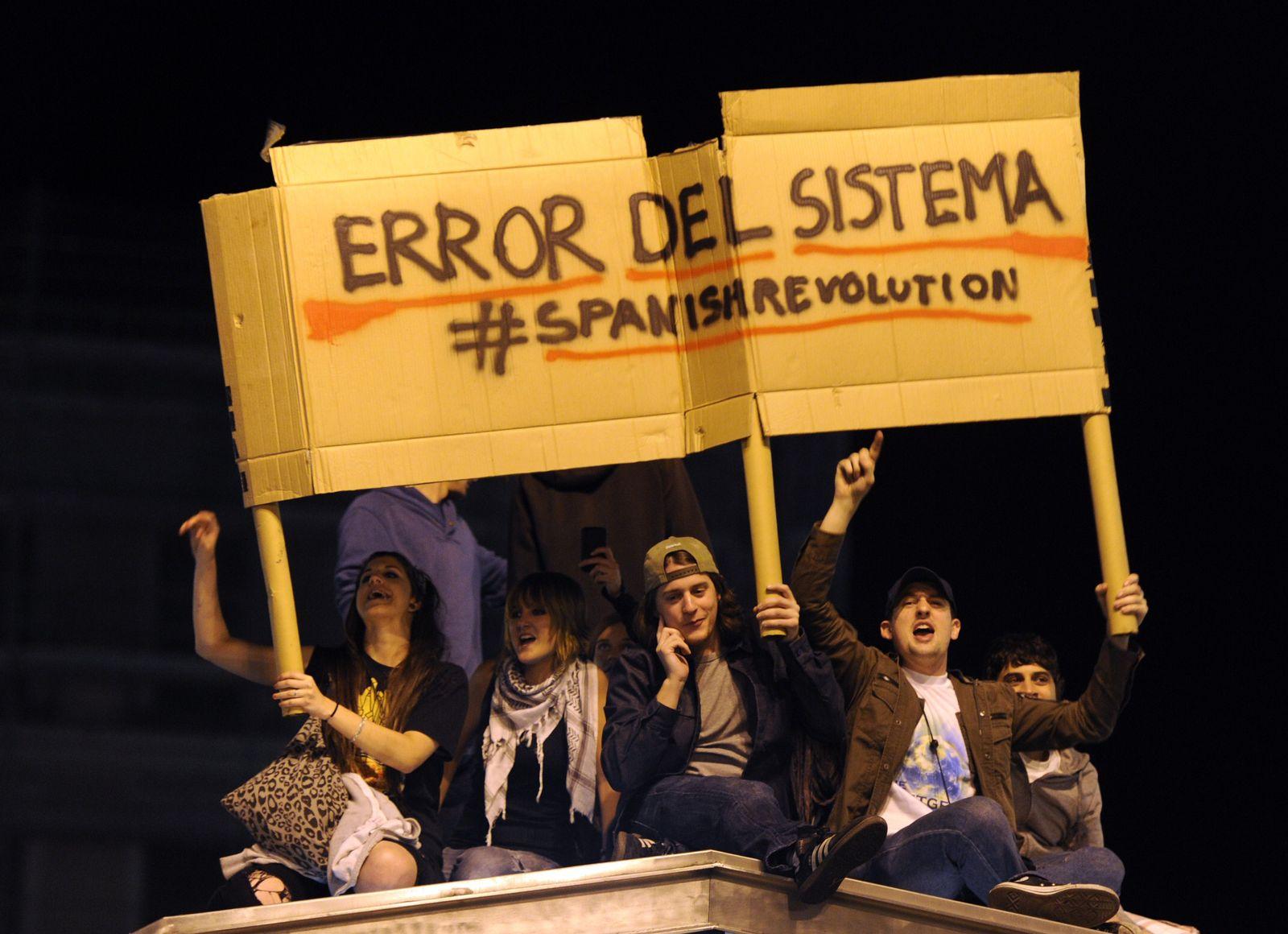 Proteste Spanien