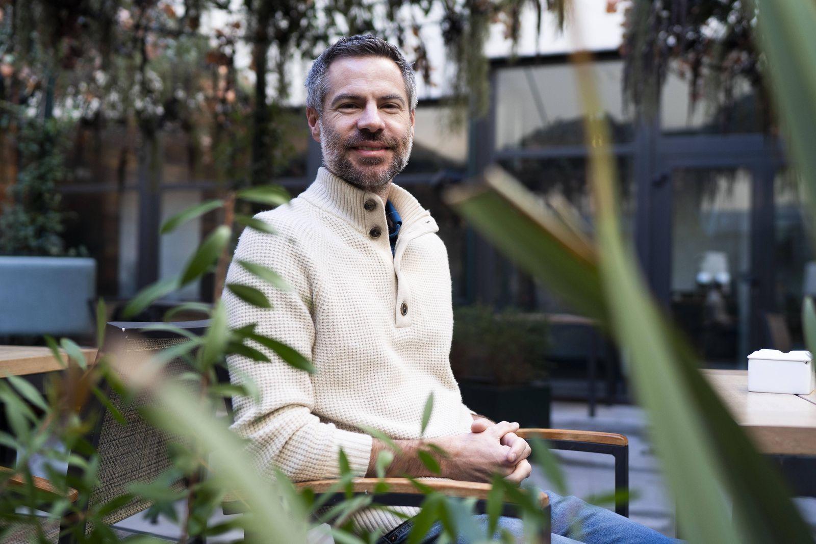 February 25 2019 Madrid Spain The American writer environmental policies Michael Shellenberge
