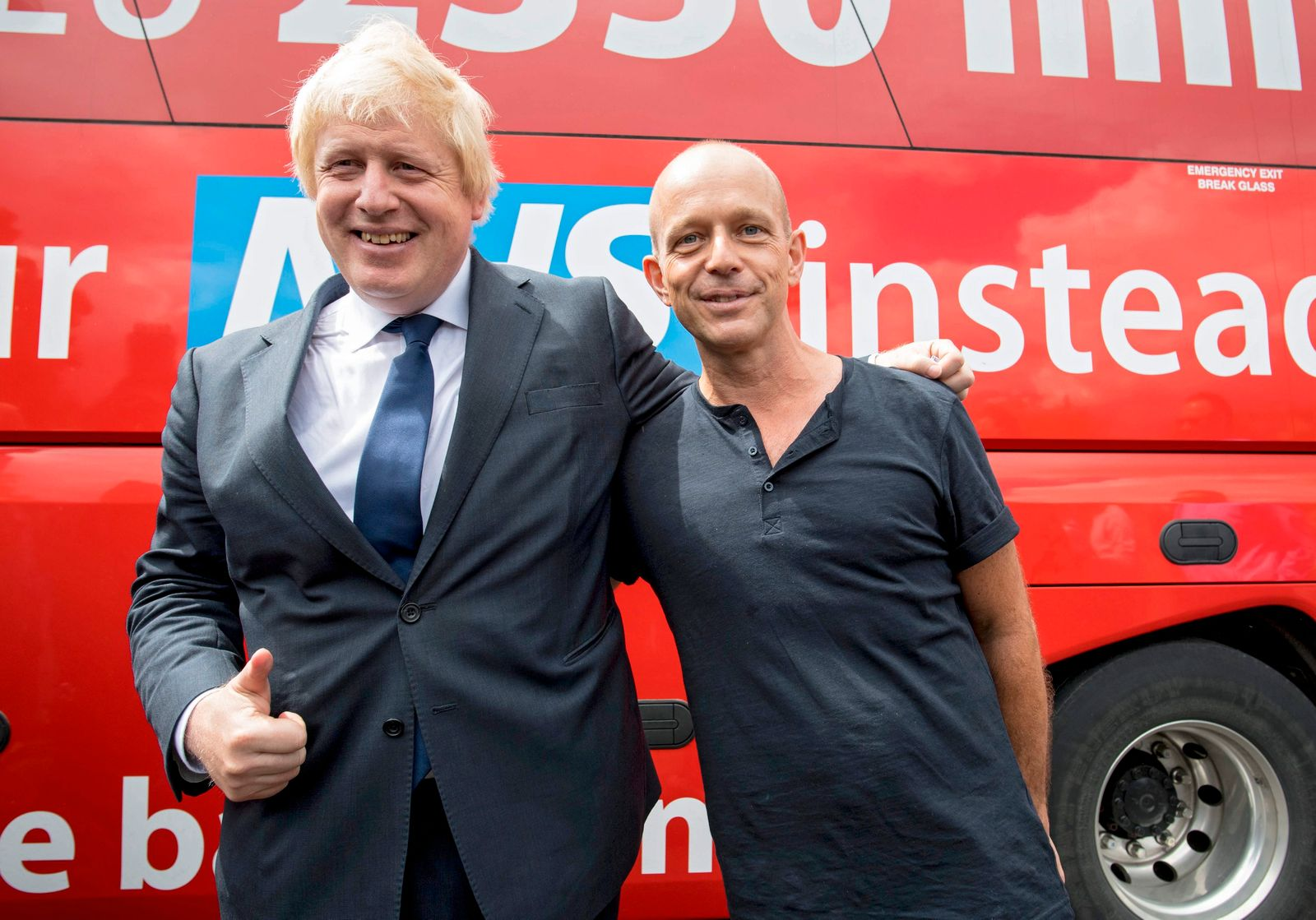 Boris Johnson on Vote Leave Bus Tour