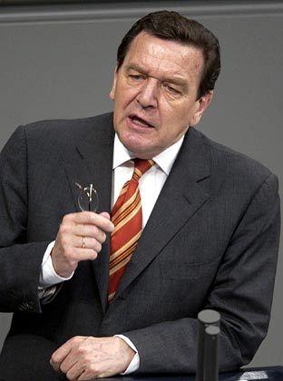 """""""Breite Mehrheit für die Agenda"""": Gerhard Schröder"""