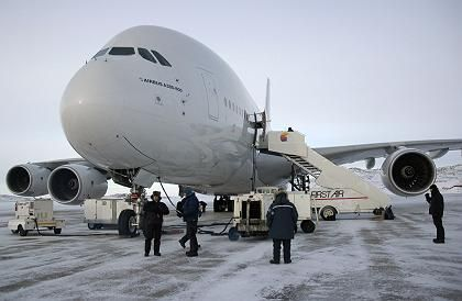 Bis zum Tragflächentest ein vorbildlicher Kandidat: Airbus A380