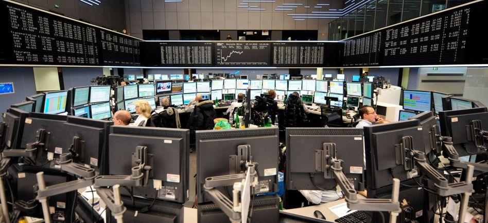 Händler in Frankfurt: Die Griechenland-Krise belastet die Börse