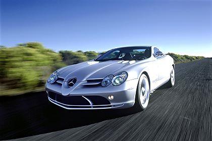 Mercedes SLR Leergewicht: 1768 kg Verbrauch (ECE-Norm): 14,8 l/100 km