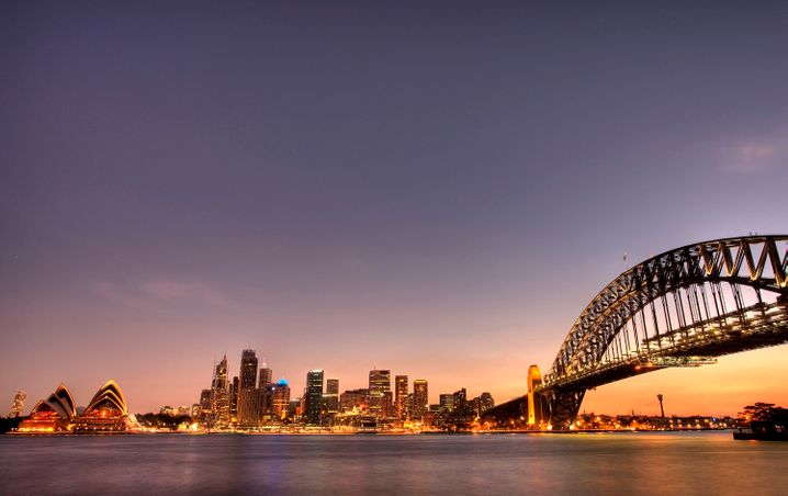 Skyline von Sydney: In Australien ist der Verkauf von Motoren mit Abschalt-Software verboten - VW drohen Strafzahlungen in Millionenhöhe