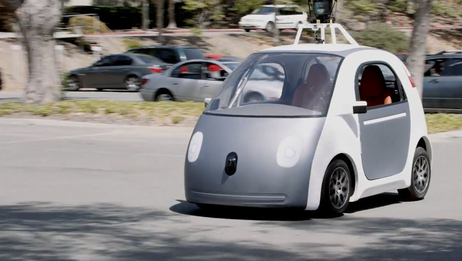 Angstmacher: Screenshot des angeblich selbstfahrenden Google Cars