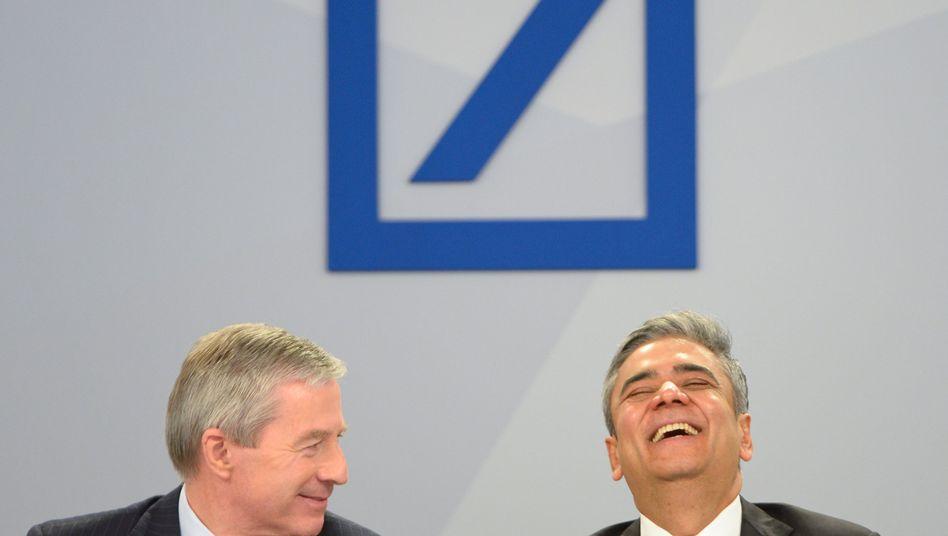 Co-Chefs Fitschen (l.) und Jain: Deutsche Bank als Platzhirsch im Nischenmarkt
