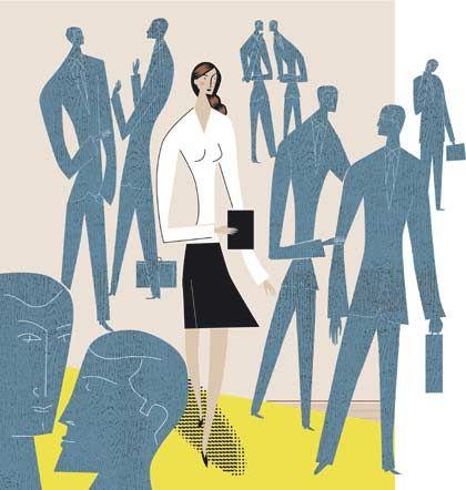 Steiniger Weg: Ausgrenzung, Machosprüche und diskretes Mobbing machen Frauen im Arbeitsalltag zu schaffen