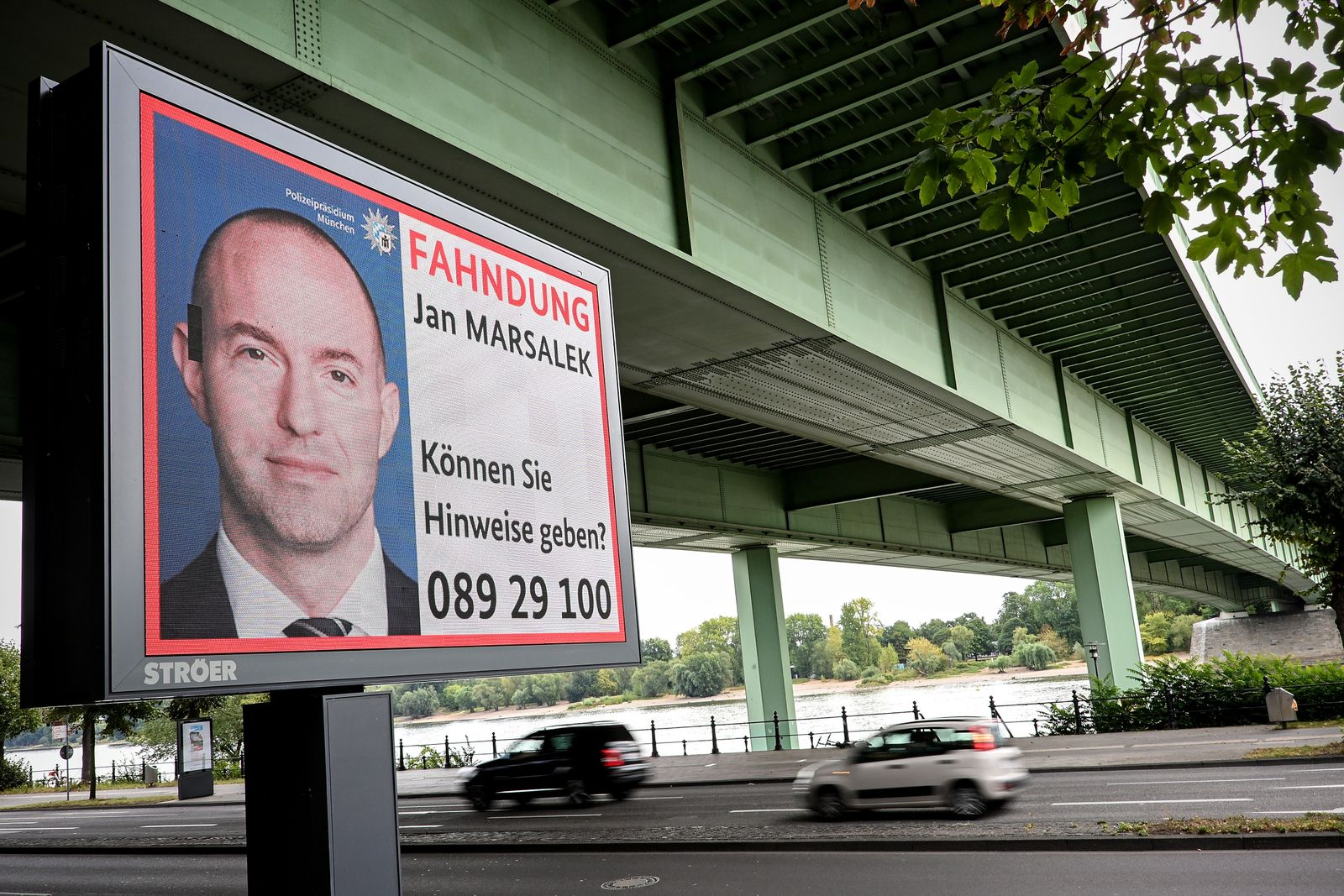German police advertises wanted poster of Wirecard management member Marsalek, Cologne, Germany - 14 Aug 2020