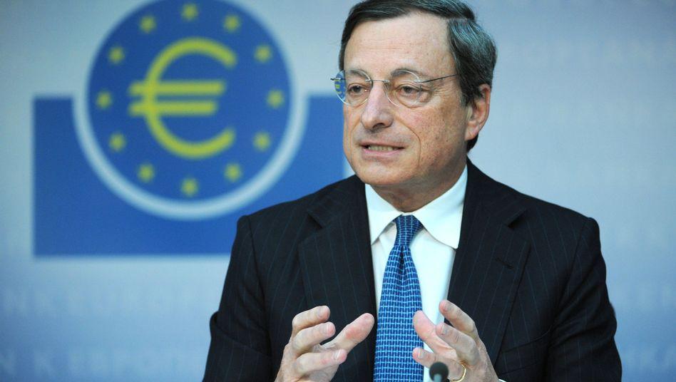 """Mario Draghi: """"Anzeichen für eine Erholung auf niedrigem Niveau"""""""