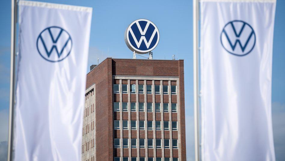 Verwaltungshochhaus im VW-Stammsitz in Wolfsburg