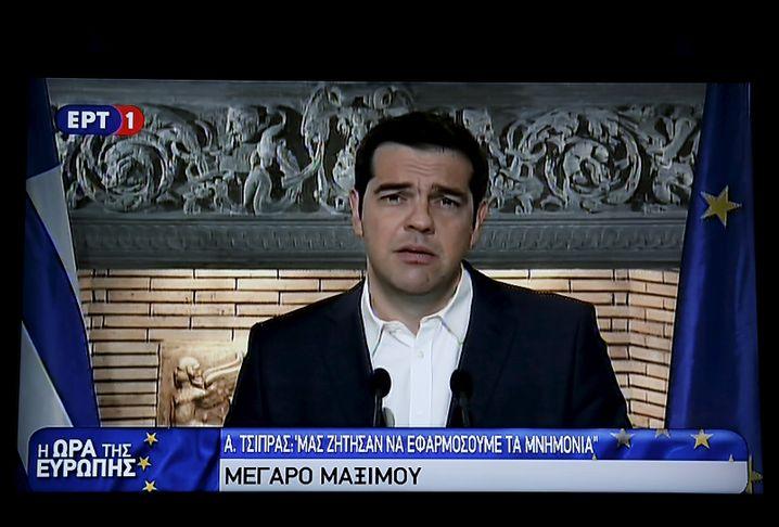 """Tsipras im Fernsehen: """"Manche der Institutionen und der Partner haben wohl die Absicht, ein ganzes Volk zu demütigen"""""""